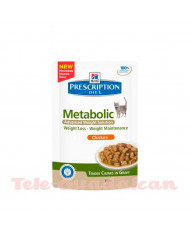 Hill´s Feline Diet Metabolic (bolsita) 12x85Gr