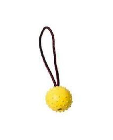 Pelota de goma con cuerda (7cm x 30cm)