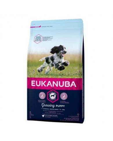 Eukanuba Puppy Razas Medias 12Kg