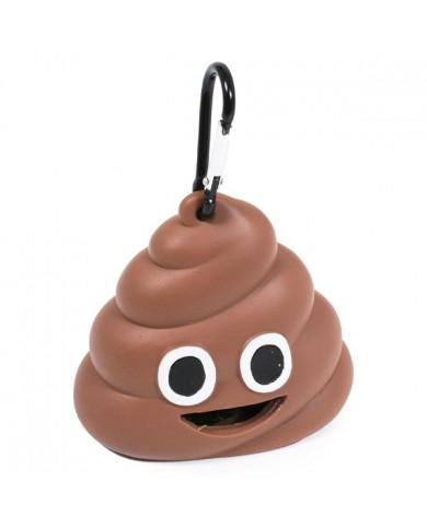 Dispensador + bolsa Poopbag emoji