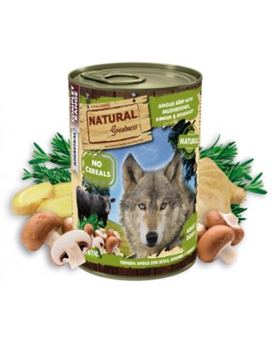 Natural Greatness Venado con Zanahoria, Pera y Diente de León lata 400gr