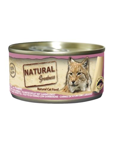 Natural Greatness Cat Filete de Atún con Gambas lata 70gr