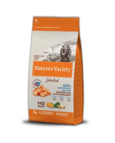 Natures Variety Select Medi/Maxi No Grano Salmón Noruego