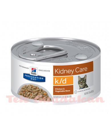 Hill's Feline Diet k/d (lata) 24x156gr